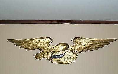 Us Federal Artistic Carving Co Eagle Wood Carving Folk Art Bellamy Handmade