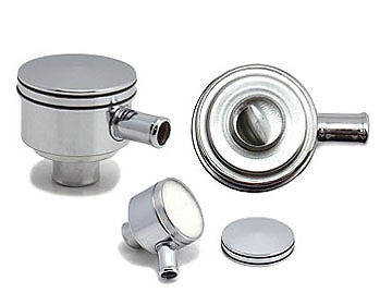 Spectre Chrome Breather Oil Filler Cap Push In Suits Classics & American Cars