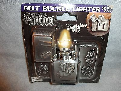 Tattoo Belt Buckle Lighter Dove With Dager