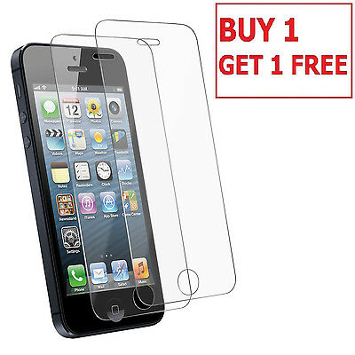 100% Genuine Tempered Glass LCD Screen Protector fit for Apple iPhone 5S 5C SE