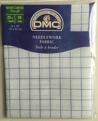 "DMC Needlework Fabric 25 Count Waste Canvas Cross Stitch Fabric 14"" x 18"""