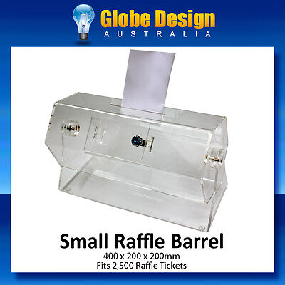 SMALL RAFFLE BARREL or COMPETITION TICKET DRUM $99
