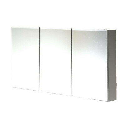 1200mm Bevel MIRROR CABINET bathroom 3 DOORS (Also available in 600/750/900)