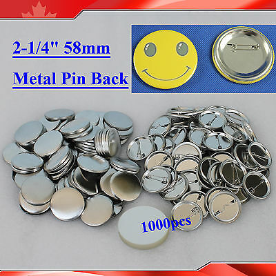 "2-1/4"" 58mm 1,000sets  Pin Badge Button Parts Supplies for Button Maker metal"