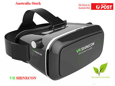"3D Virtual Reality Cardboard VR SHINECON Movie Game Glasses For 3.5"" - 6"" Phone"