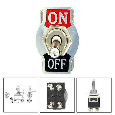 Car 20A 125V 15A 250V DPST 4Pin ON/OFF Metal Rocker Toggle Switch ATM Sales