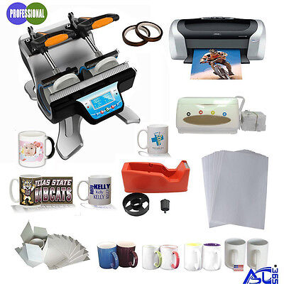 Double Station Mug Heat Press Machine Epson C88 Printer CISS Sublimation Paper
