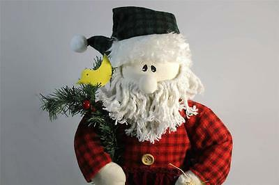 "Christmas Country Style Santa Claus Plush on Pedestal 24"" Tall"