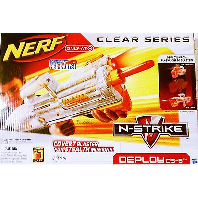 Brand New NERF N-Strike DEPLOY CS-6 Clear DART BLASTER