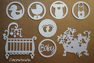 Baby Die Cuts #2 - 1 set Cute (8 cut-outs) Scrapbooking Cardmaking Embellishment