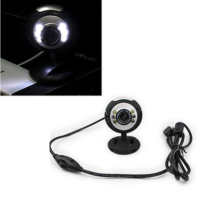 Webcam For PC Laptop Computer 6 LED Camera Microphone USB  With Mic NEW Video