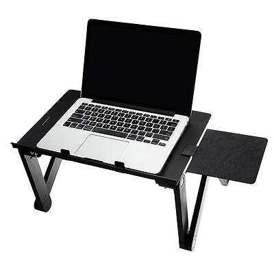 Portable Adjustable Laptop Table Stand Mouse Pad Aluminum Tray Desk Cooling Pad