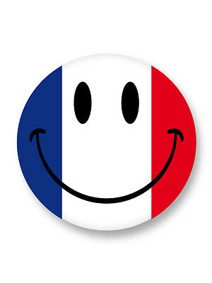 "Pin Button Badge Ø25mm 1"" Smiley Face Smile Smiling Emo Happy Face France"