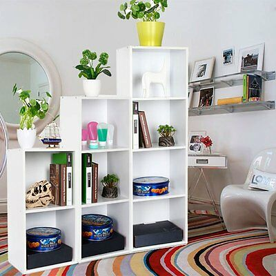 2,3, 4 Tier White Bookcase Shelf Wooden Shelves Bookshelf Shelving Unit Bookcase