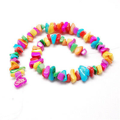1Strand Mixed Shapes Freshwater Shell Colorful Chip Beads 8~18x7~10x3~9mm Making