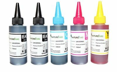 500ml Premium Ink refill bottles kit for empty Canon Epson HP cartridge