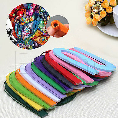 120 Strips 5mm Quilling Paper Mixed Origami Paper DIY Hand Craft Solid Colour