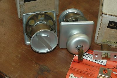 Beautiful Pair Of Russwin Mid Century Locking Closet Door Locksets Keyed Alike