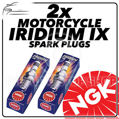 2x NGK Upgrade Iridium IX Spark Plugs for HONDA 125cc XL125V Varadero 01-  #3797