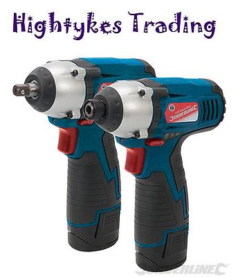 10.8V impact wrench & cordless drill Impact Driver - Twin Pack 262266 Silverline