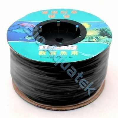 Hailea BLACK Silicone Air Line Tubing Hose Aquarium Pond Hydroponic 4mm x 6mm