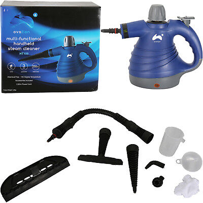 Ovation 1000W Electric Portable Hand Held Steam Steamer Cleaner & Accessories