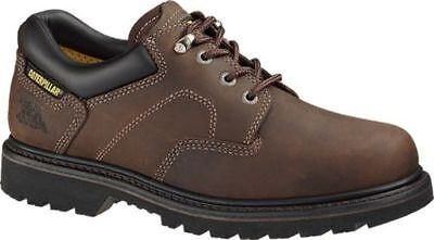 NEW Mens CAT FOOTWEAR Dark Brown RIDGEMONT Work Shoes P73238
