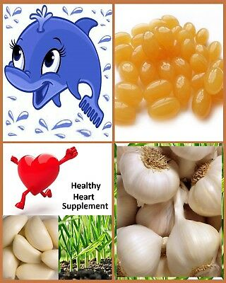 Garlic Odourless Pure Softgel Capsules - 10mg, 1000mg Equivalent - Heart Health.