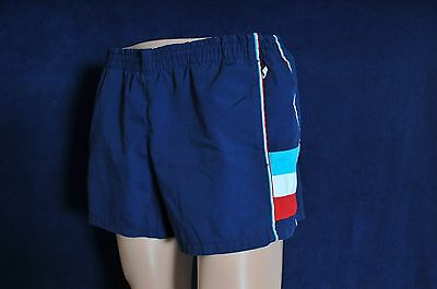Vintage '70s Men's short Jantzen navy swim trunks bating suit 38