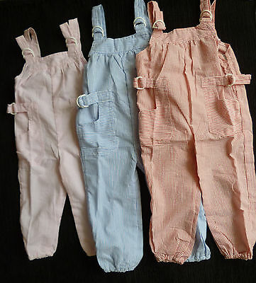 Baby clothes GIRL BOY 6-9m/9-12m 1 pair summer dungarees choose size/colour NEW!