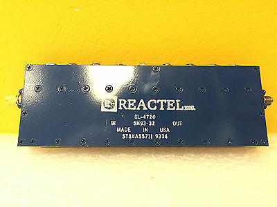 Reactel SL-4720, 1068 to 1132 MHz, SMA (M-F) Coaxial Bandpass Filter