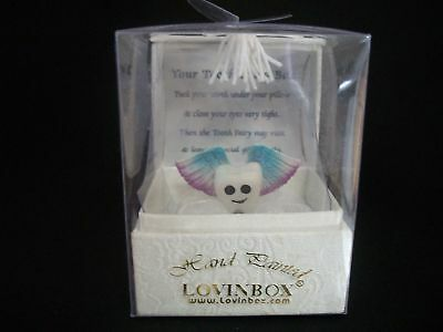 Hand Painted Tooth Fairy Figurine & White Box by Lovinbox, #2312V, NEW IN BOX!!!