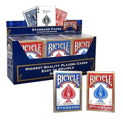 12 x Bicycle Standard 808 Rider Back Poker Karten Spielkarten