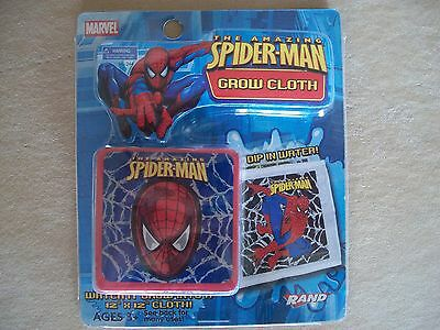 """Marvel Spider-Man Grow Cloth, When Wet It Grows To 12"""" x 12"""", NEW IN PACKAGE!!!!"""