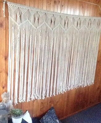 HUGE Macrame Wall Hanging 2m X 120cm Art Handmade Boho Wedding Backdrop Bohemian