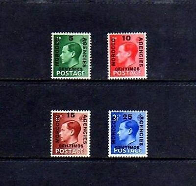 Morocco - 1936 - King Edward Viii - Great Britain Ovpt - 4 X Mint - Mnh Set!