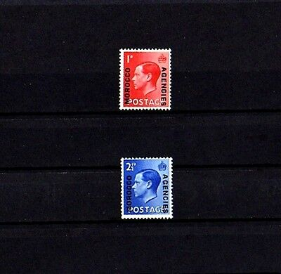 Morocco - 1936 - King Edward Viii - Great Britain - Ovpt - 2 X Mint - Mnh - Set!