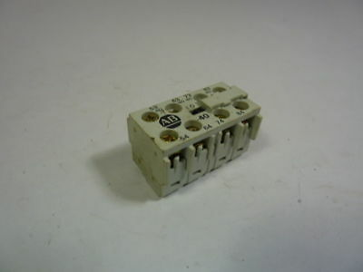 Allen Bradley 195-MA40 Auxiliary Contact Adder Deck  USED