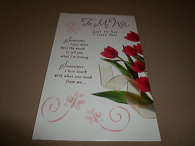 """Happy Mother/'s Day Card with Envelope /"""" For My Wife /"""" MD-157"""