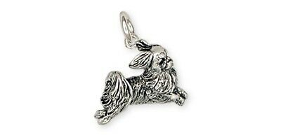 Playful Japanese Chin Charm Sterling Silver Dog Jewelry JC6-C