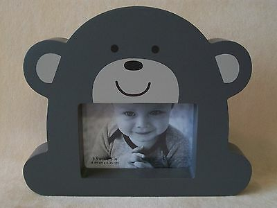 "Carter's Baby Wood Brown Bear Photo Frame, 6 3/4"" X 5 1/2"", NEW IN BOX!"