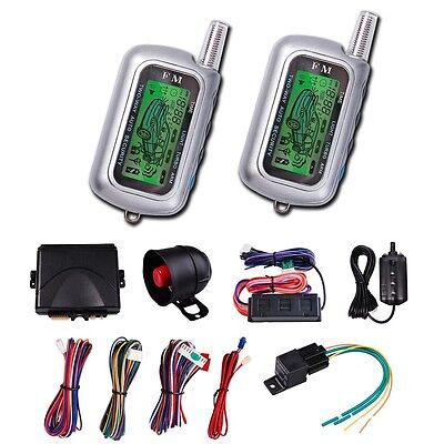2 Way Car Vehicle System Keyless Entry Siren Alarm Protection Security +2 Remote