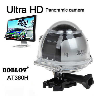 4K 360°Panoramic Ultra HD 2448*2448 30fps Camara Wifi Sport Driving Cam VR View