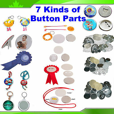 "7 Kinds 2-1/4"" 58MM Badge Button Parts Material for Maker Machine Pin Back"