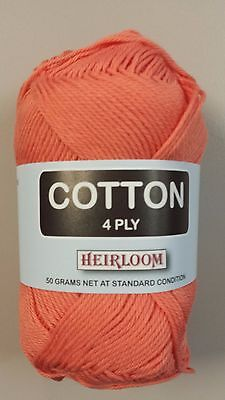 Heirloom Cotton 4 Ply #613 Red 50g