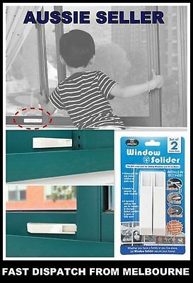 2 x Security Sliding Door and Window Lock for Push-pull Door Child Pet Safety AU