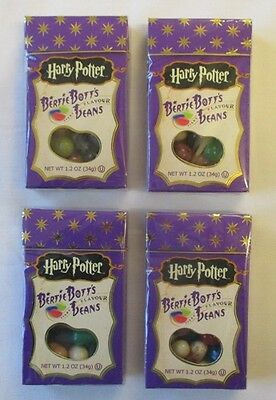 4 x 34g BOXES HARRY POTTER BERTIE BOTTS TRICK FLAVOURED JELLY BEANS