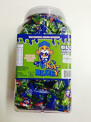 Box Of 100 Ka-Bluey Candy With Bubble Gum Centre Blue Raspberry Flavour (Green)