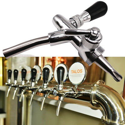 "Adjustable Draft Beer Faucet 4"" Long Shank with Chrome Plating For Keg Tap"