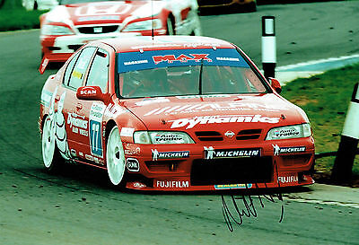 Matt NEAL British Touring Car Nissan Driver SIGNED Photo AFTAL Autograph COA